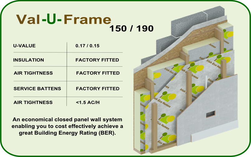 Timber Frame Wall Image Val-U-Frame by Irish Eco Homes